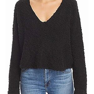 Popcorn cropped pullover by free people